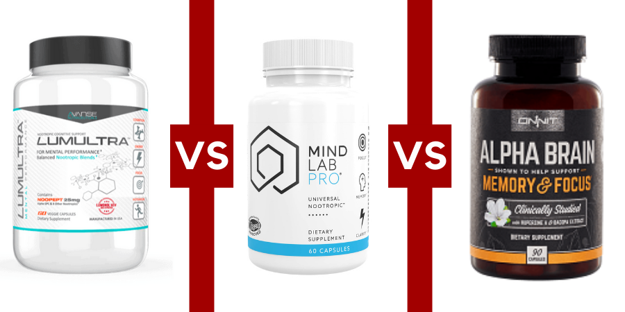 Lumonol vs Mind Lab Pro vs Alpha Brain