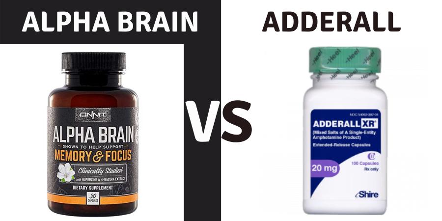 alpha brain vs adderall